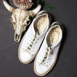 Sam Edelman white athleisure wear shoes 8